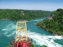 Kabelbil över bubbelpoolen på Niagara River, Kanada Arkivfoton