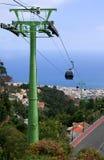 Kabelbil över Funchal, madeira Royaltyfri Fotografi