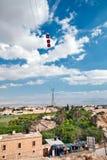 Kabelbil över Jericho palestine royaltyfria foton
