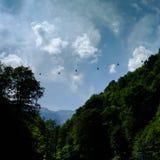 Kabelbil, berg Royaltyfri Foto