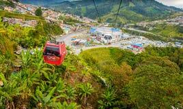 Kabelbil i Manizales, Colombia royaltyfri bild