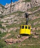 Kabelbil, Montserrat, Catalunya, Spanien Royaltyfri Foto