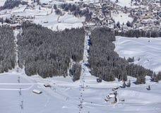 Kabelbil på Mt Titlis i Schweiz Arkivbild