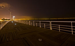 Kabelbil på natten Royaltyfri Bild