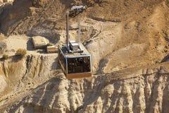 Kabelbil till den Masada fästningen israel Royaltyfri Foto