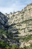 Kabelbil till Santa Maria de Montserrat Abbey i Montserrat berg Royaltyfria Bilder
