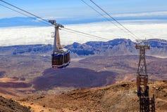 Kabelbilen på ön av Tenerife fotografering för bildbyråer