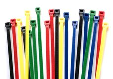 Kabelbinder lokalisiert Stockfotografie