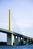 Kabelbrücke in Thailand Lizenzfreie Stockfotos