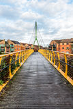 Kabelbro över Nene River i Northampton Arkivfoto