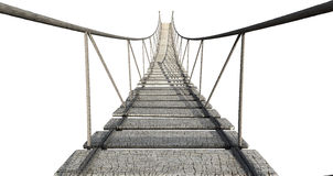 Kabelbrug royalty-vrije stock afbeelding