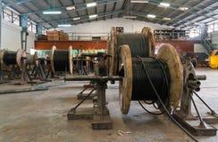 kabelelkraftrullar Royaltyfri Bild