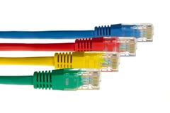 kabelfärgnätverk Arkivbild