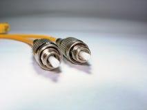 kabelfiber - optisk lapp Arkivbilder