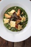 Kabeljaufilet mit überzogener Mahlzeit des Risotto Lizenzfreies Stockfoto