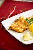Kabeljauwvisfilet met aardappels Royalty-vrije Stock Afbeelding