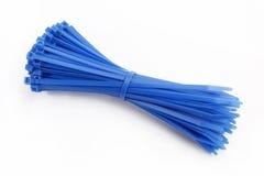 Kabelkontakt i blått Arkivbild