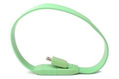 Kabelkontaktdon mikro-USB till USB Arkivbild