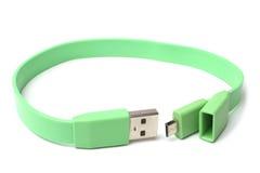 Kabelkontaktdon mikro-USB till USB Arkivfoton