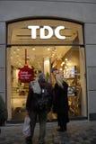 Kabellager för TDC Teledanmark Arkivfoto