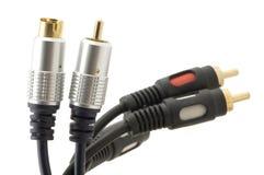 Kabeln Sie für Fernsehnahaufnahme lizenzfreie stockbilder