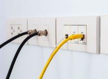 Kabelplatte für neues Haus Stockfotos