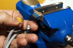 Kabels en het Solderen Stock Foto's