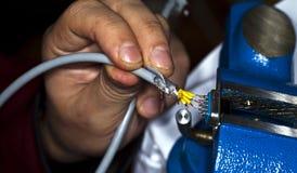 Kabels en het Solderen Stock Foto