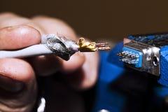 Kabels en het Solderen Royalty-vrije Stock Foto's
