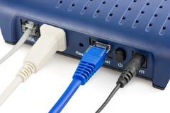 Kabels en modem royalty-vrije stock foto's