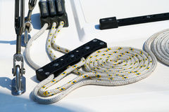 Kabels op hoger dek stock foto's