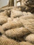 Kabels op schip Stock Fotografie
