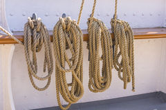 Kabels op schip royalty-vrije stock afbeelding