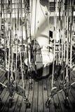 Kabels op varende boot Royalty-vrije Stock Afbeelding