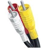 Kabels RCA met het knippen van weg Royalty-vrije Stock Foto's