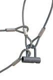 Kabels van de Lijn van de Draad van de Bedrijfsveiligheid de Slot Met elkaar verbonden Stock Afbeeldingen