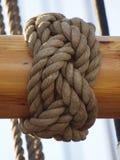 Kabels van een oude varende boot Royalty-vrije Stock Foto's