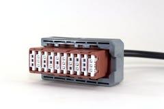 Kabelschakelaar voor computerdiagnostiek van een auto stock foto's