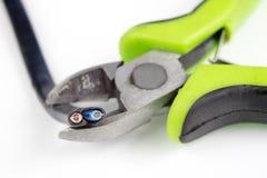 Kabelschneider und elektrischer Isolierdraht Zubehör für wählt Stockfoto