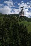 kabelspoor in de Alpen Stock Foto's