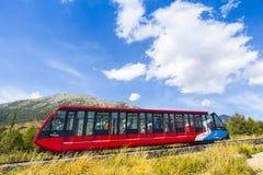 Kabelspoor in Hoge Tatras, Slowakije stock afbeelding