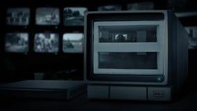 Kabeltelevisie-Auto in Parkerengarage stock video