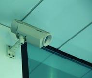 Kabeltelevisie-camera bij de bouw van achtergrond Stock Fotografie