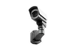 Kabeltelevisie-camera op de witte achtergrond Stock Afbeeldingen
