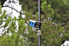 Kabeltelevisie, Externe Videocamera, Bezit Survelliance stock fotografie