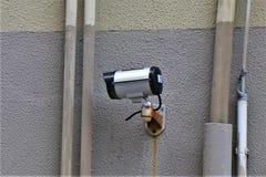 Kabeltelevisie, Externe Videocamera, Bezit Survelliance royalty-vrije stock foto's