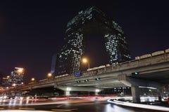 Kabeltelevisie Headquartes bij nacht, Peking, China Royalty-vrije Stock Foto
