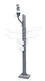 Kabeltelevisie-het draadloze en lege uithangbord van de veiligheidscamera Stock Fotografie