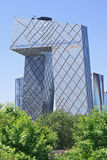 Kabeltelevisie-Hoofdkwartier op een zonnige dag, Peking, China Stock Afbeeldingen