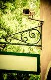 Kabeltelevisie op de muur Royalty-vrije Stock Foto's